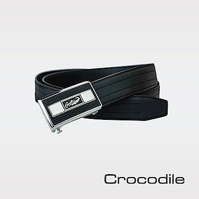 Crocodile 紳士義大利進口自動穿扣皮帶 0101-20191