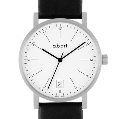 a.b.art O系列 包浩斯基本經典腕錶-白/40.5mm