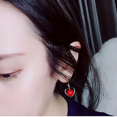 Hera 赫拉 愛心耳墜針式/無耳洞夾式耳環