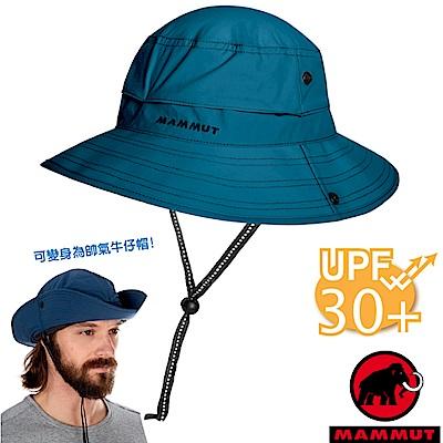 【瑞士 MAMMUT 長毛象】新 Runbold 輕量透氣漁夫帽_冠藍鴉