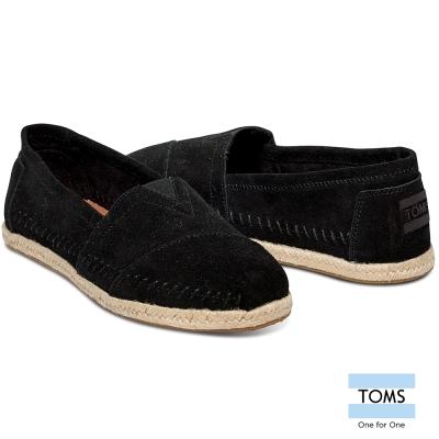 TOMS-麂皮縫線懶人鞋-女款