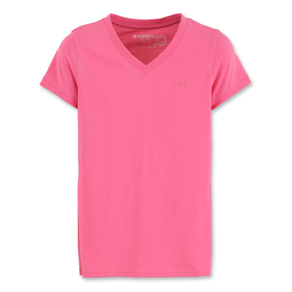 Hang Ten - 女裝 - 有機棉 基本多彩T-SHIRT-粉