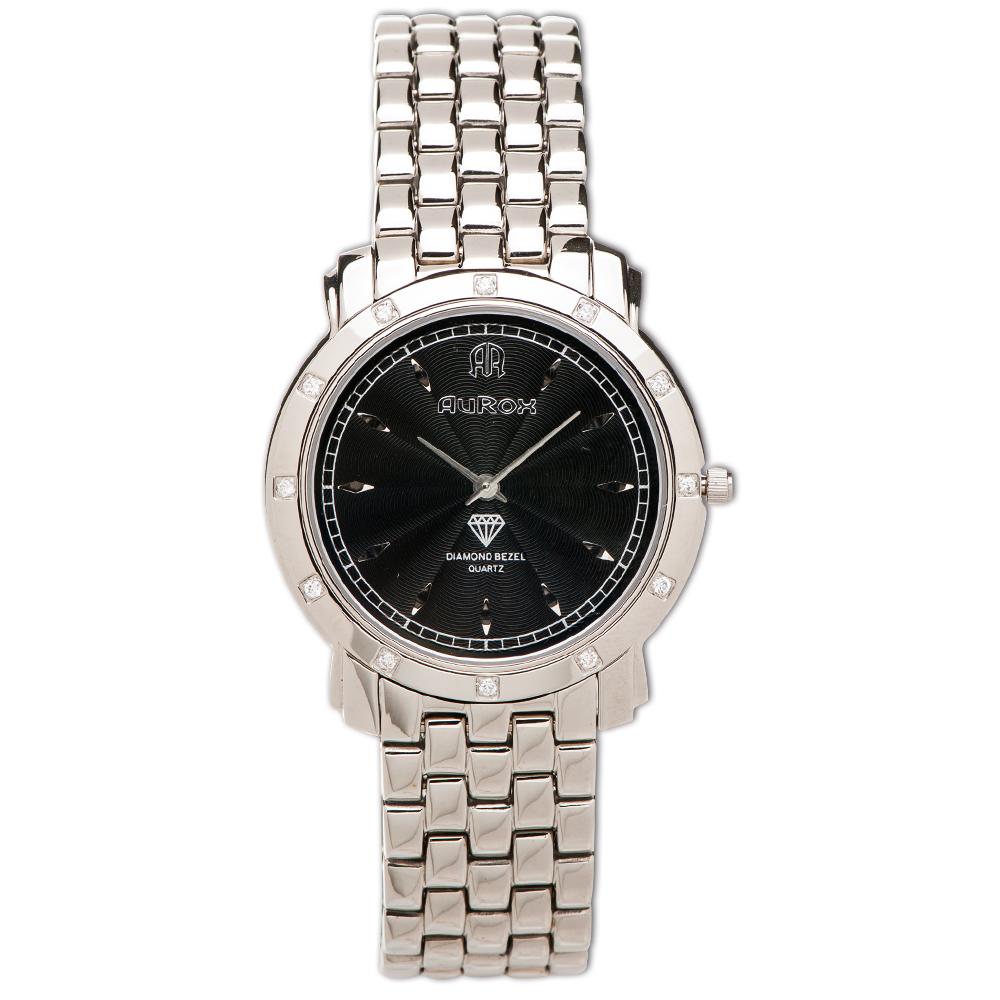 AuRox歐銳時 精典都會超薄不袗石英鑽錶(AR21026-黑)-29mm