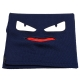 FENDI 經典BUGS系列小毛怪造型羊毛針織圍巾(海軍藍) product thumbnail 1