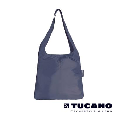 TUCANO Compatto超輕量折疊收納簡便購物袋-藍