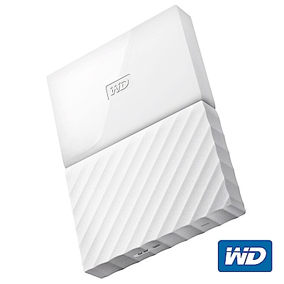 WD My Passport 2TB 2.5吋行動硬碟(白色/薄型)