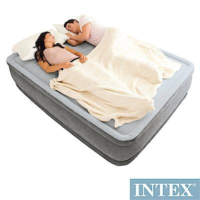 INTEX 豪華型橫條內建電動幫浦充氣床-雙人加大-寬152cm (67769) @ Y!購物