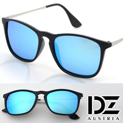 【2件59折】DZ 摩登趨勢 抗UV 偏光 太陽眼鏡墨鏡(黑框冰藍膜)