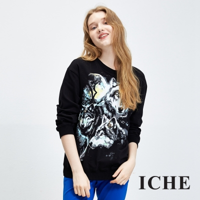 ICHE衣哲 動物印花圖案造型上衣