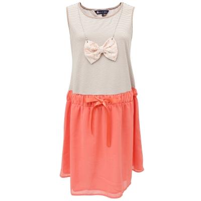 【ohoh-mini 孕婦裝】夏之蝶影條紋低腰孕婦洋裝