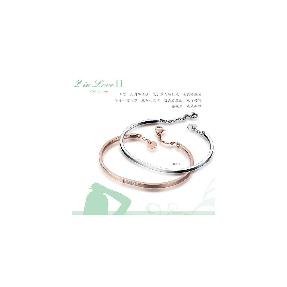 【MiGO】晶漾 對手環 (白&玫瑰)