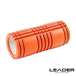 Leader X 環保EVA專業舒展塑身按摩瑜珈滾筒 滾輪 瑜珈柱 橘色