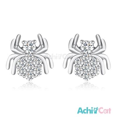 AchiCat 925純銀耳環 甜美蜘蛛 純銀耳針