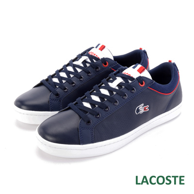 LACOSTE 法國國旗 男用休閒鞋-藍色