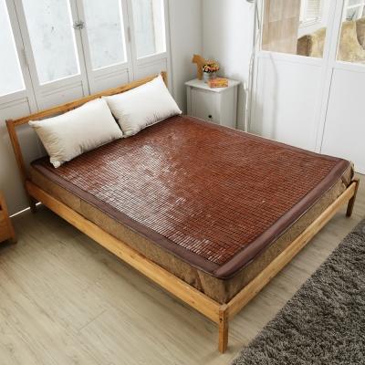 【格藍傢飾】涼感麻將竹雙人床蓆 牛筋繩 (涼墊 涼蓆 竹蓆 降溫 省電)