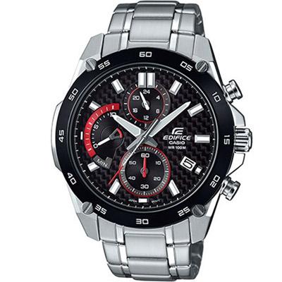 EDIFICE 扇形逆跳計時腕錶(EFR-557CDB-1A)-黑/46.7mm