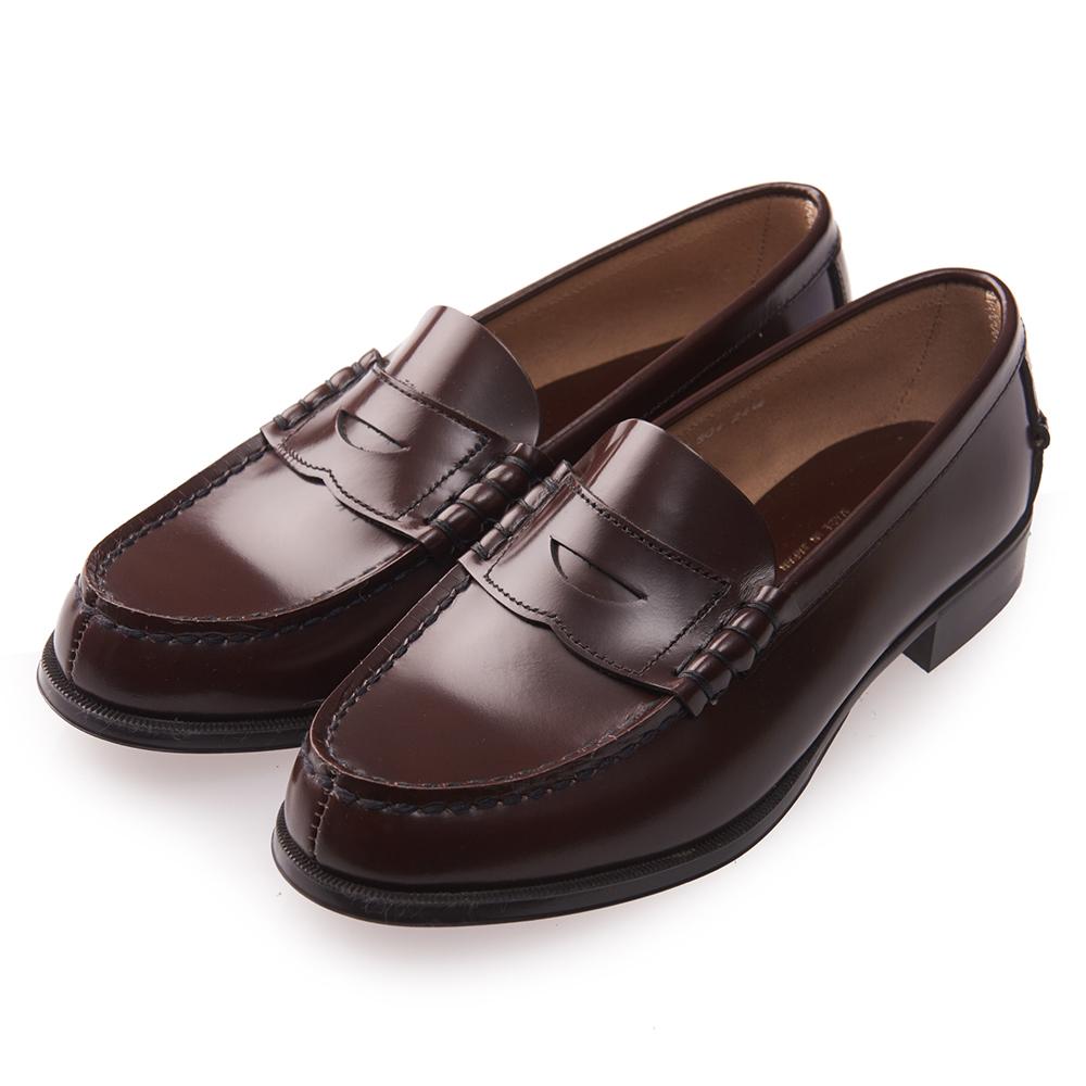 (女)日本 HARUTA 真皮平底素面皮鞋-咖啡色