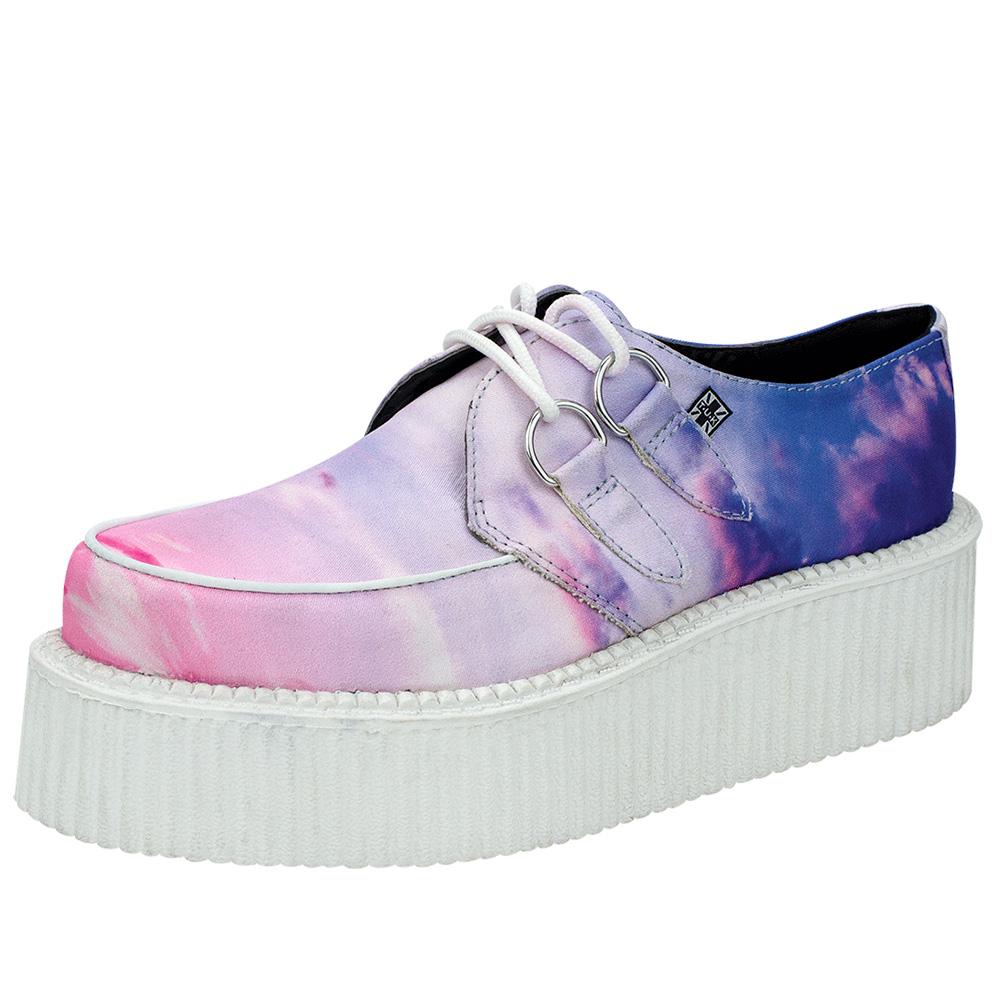 TUK雲彩經典4.5公分龐克鞋-粉/藍
