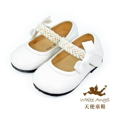 天使童鞋-C2388 天使艾咪娃娃鞋 -輕柔白