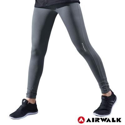 【AIRWALK】女款緊身長褲-深灰色