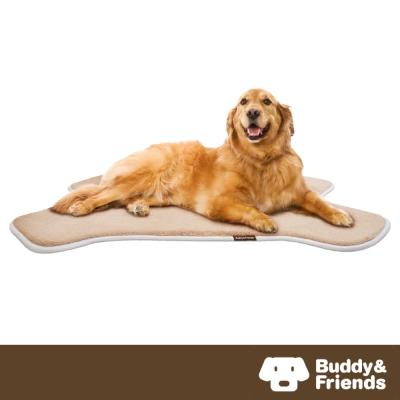 【Buddy&Friends】寵物骨頭造型墊 亞麻色L ( 71 x 107 cm)