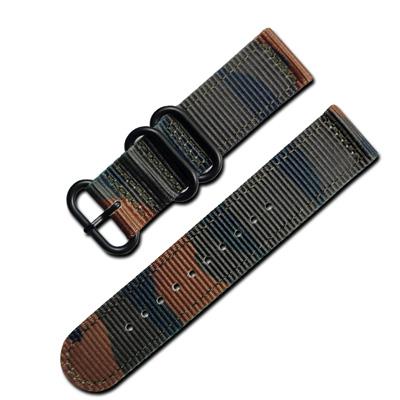 Watchband / 潮流軍事迷彩風尼龍錶帶 軍綠色