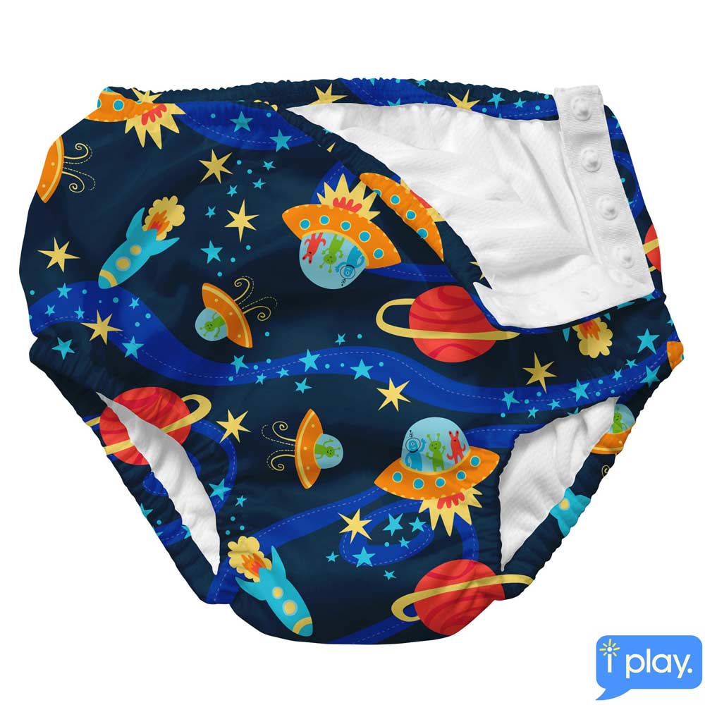 i play宇宙小怪獸款寶寶泳褲