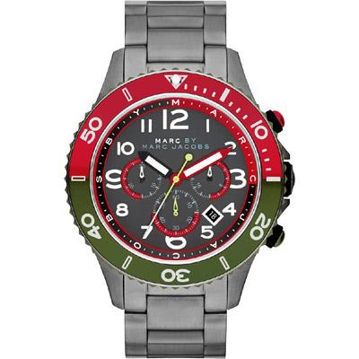 Marc Jacobs Rock 搖滾魅力計時腕錶-鐵灰/46mm