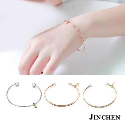 JINCHEN 白鋼珍珠開口手環