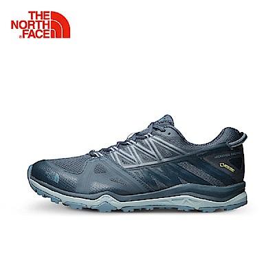 The North Face北面女款灰藍色防水耐磨休閒鞋