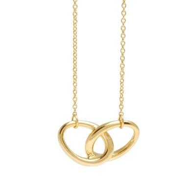 TIFFANY&Co.Elsa Peretti系列18黃K金橢圓雙圈造型項鍊金