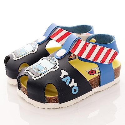 TAYO小巴士童鞋 護趾軟木涼鞋款 EI3805 藍 (中小童段)