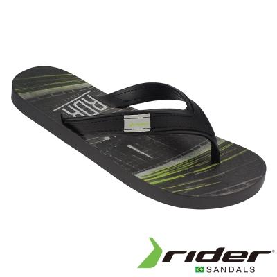 Rider 巴西 男 SHAPE 休閒夾腳拖鞋 (黑灰色)