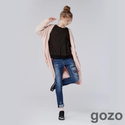 gozo 簡約主義直條紋上衣(二色)