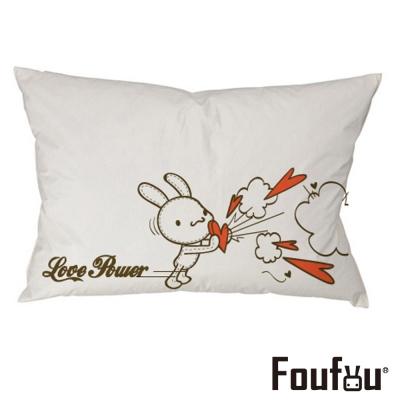 Foufou 抱枕套-Love Power 白色(單人枕套)