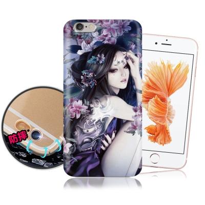 張小白授權 iPhone 6/ 6S Plus 古典奇幻插畫 滿版空壓保護殼(鬼...