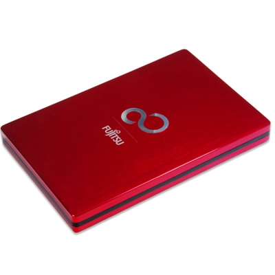 Fujitsu 2TB USB3.0 2.5吋 Ultra Slim金屬髮絲行動硬碟-紅