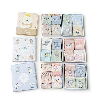 卡通造型春夏童襪4入盒裝(五款可選)
