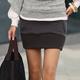 【N.C21】菱格紋厚綿口袋短裙 (共三色)