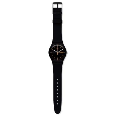 Swatch 原創系列 DARK REBEL 黑色反叛手錶-41mm