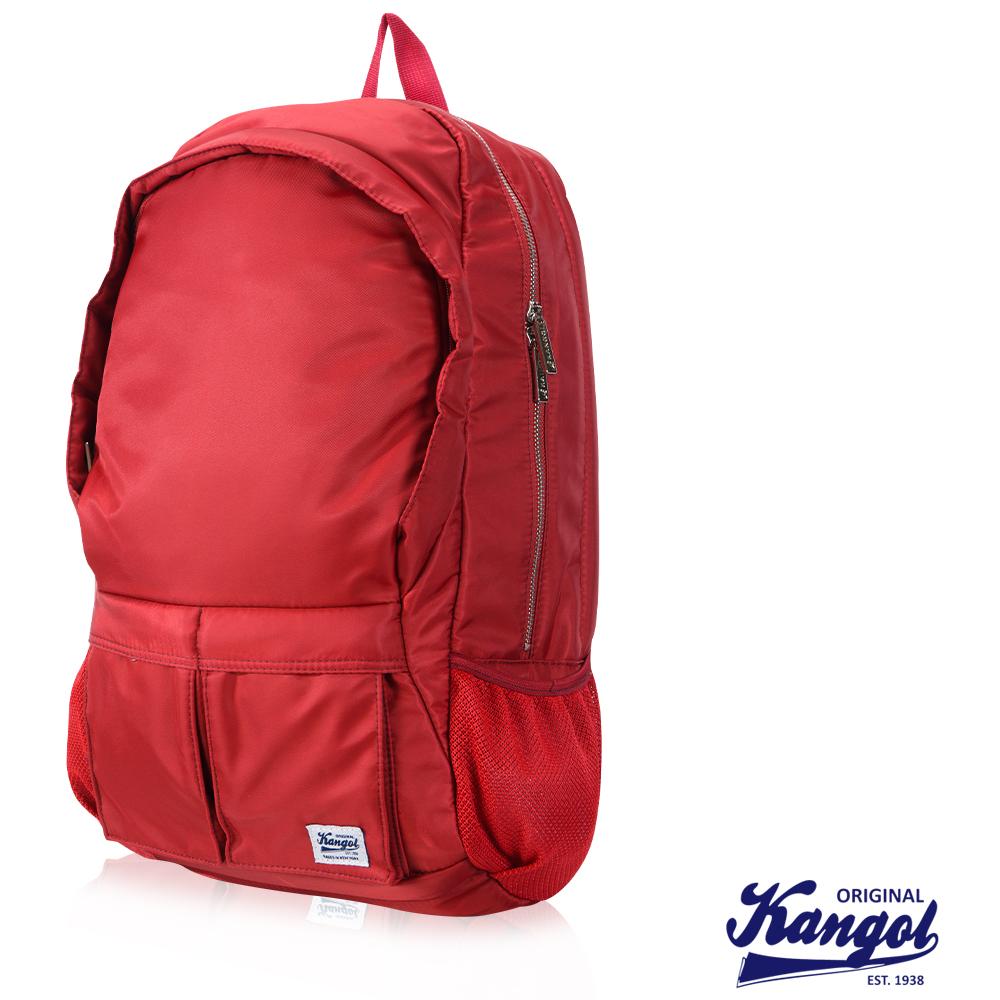 KANGOL 英式時尚輕時尚休閒13吋筆電後背包防潑水尼龍-紅