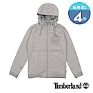 Timberland 女款灰色Saco Rvr全長拉鍊標誌連帽衫