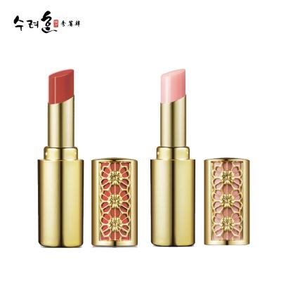 秀麗韓 妍珍珠絲絨潤唇膏 01粉+02潤紅色