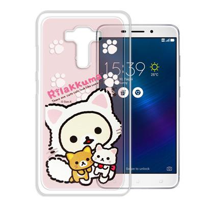 日本授權拉拉熊 華碩 ZenFone3 Laser ZC551KL變裝彩繪手機殼(貓咪粉)