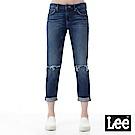Lee 牛仔褲 401中腰標準合身小直筒牛仔褲- 女款