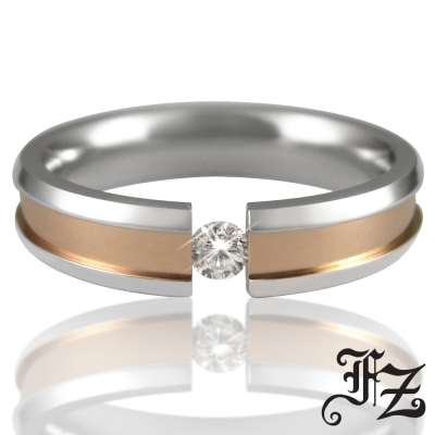 FZ 守護愛情白鋼戒指-女版(戒圍可選)