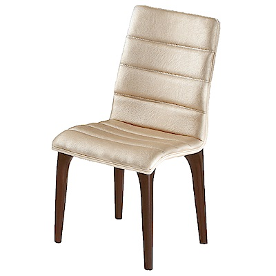AS-安德莉亞米白色皮面餐椅-44.5x57x90.5cm