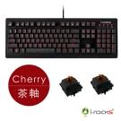 i-Rocks IRK65MS單色背光機械式鍵盤-德國Cherry茶軸