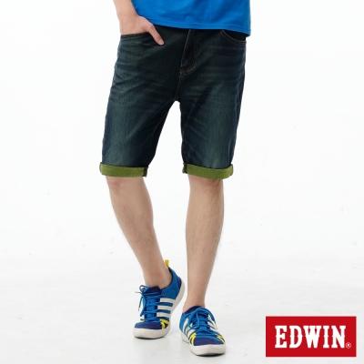EDWIN-短褲-迦績褲JERSEYS反折牛仔褲-男-原藍磨