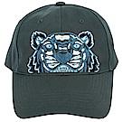 KENZO Tiger Canvas 經典虎頭刺繡圖騰棒球帽(藍綠色)